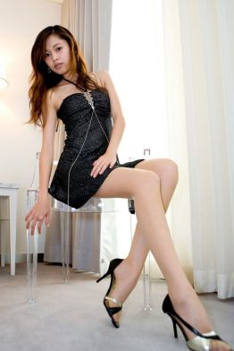 sexy japanese girl on chair